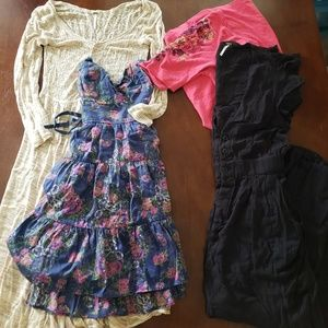 Free people bundle xs to M dresses and jumpsuit